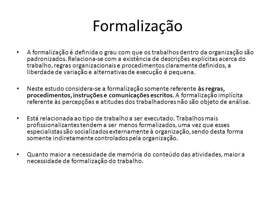 Formalização