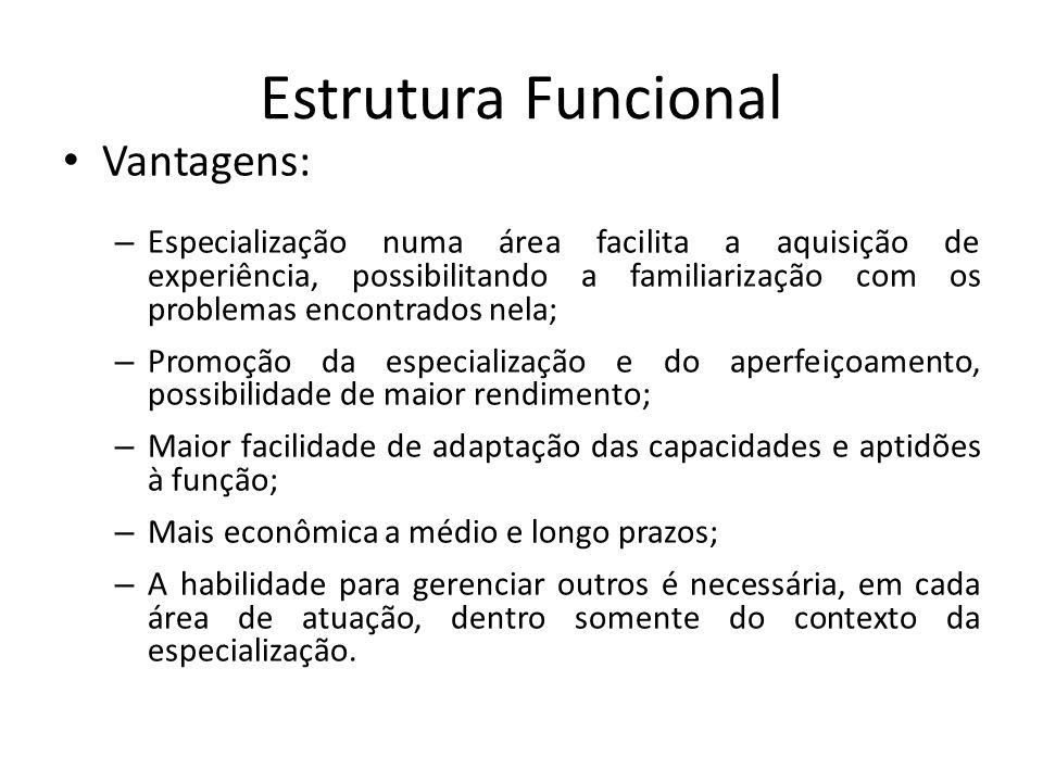 Estrutura Funcional Vantagens: