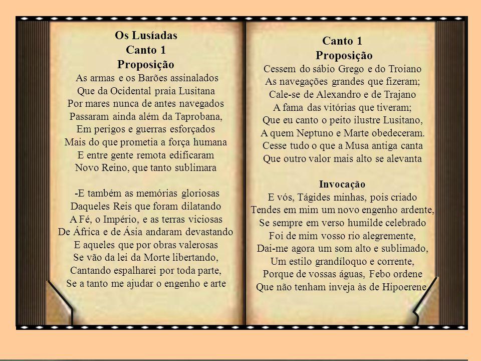 Os Lusíadas Canto 1 Proposição
