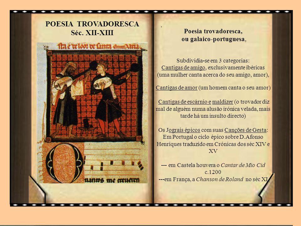POESIA TROVADORESCA Séc. XII-XIII