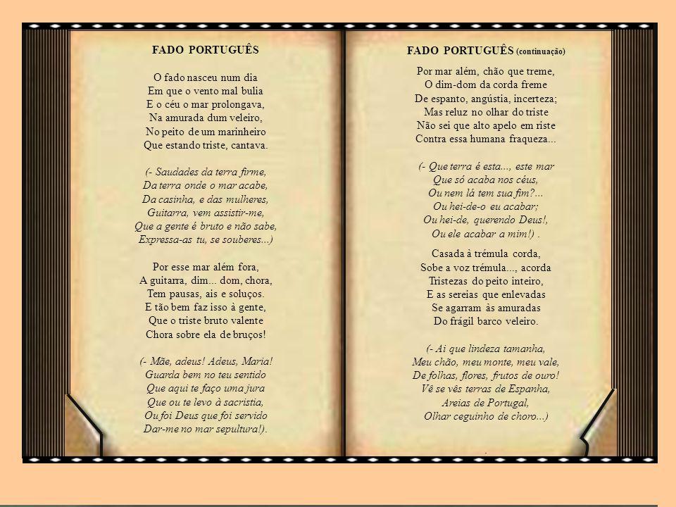 FADO PORTUGUÊS (continuação)