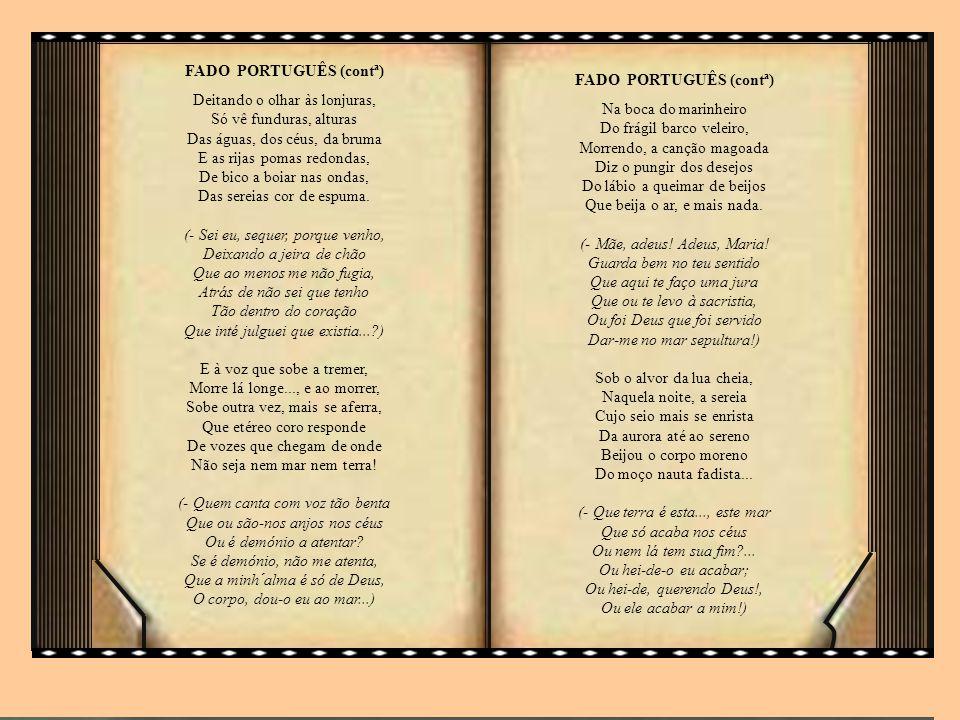 FADO PORTUGUÊS (contª)