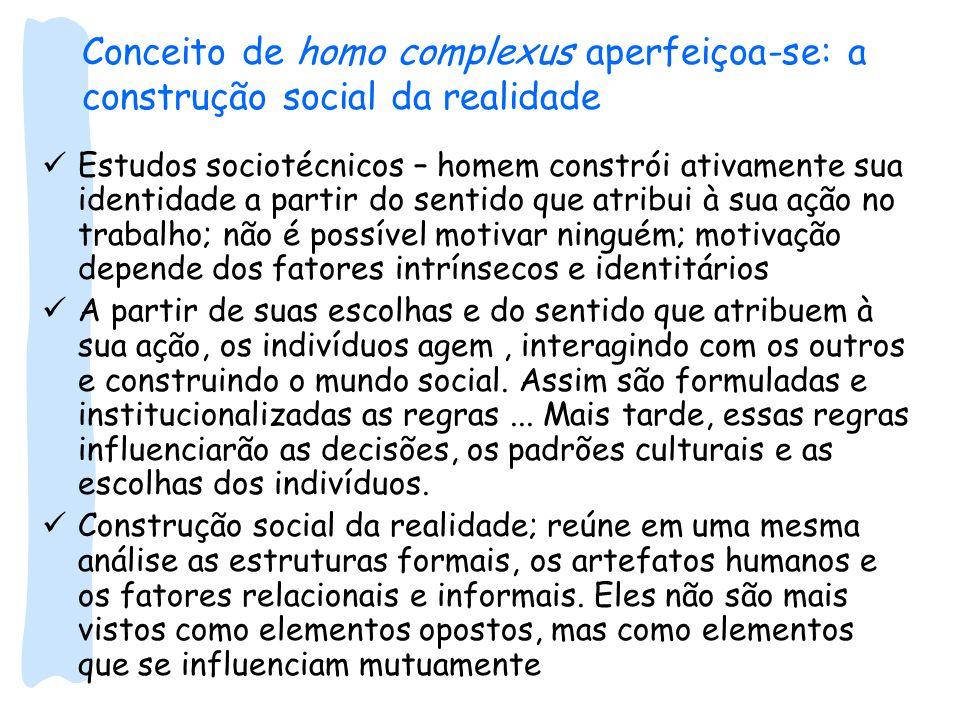 Conceito de homo complexus aperfeiçoa-se: a construção social da realidade