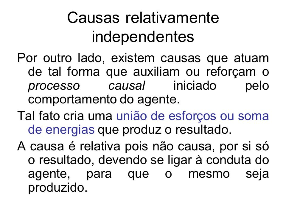 Causas relativamente independentes