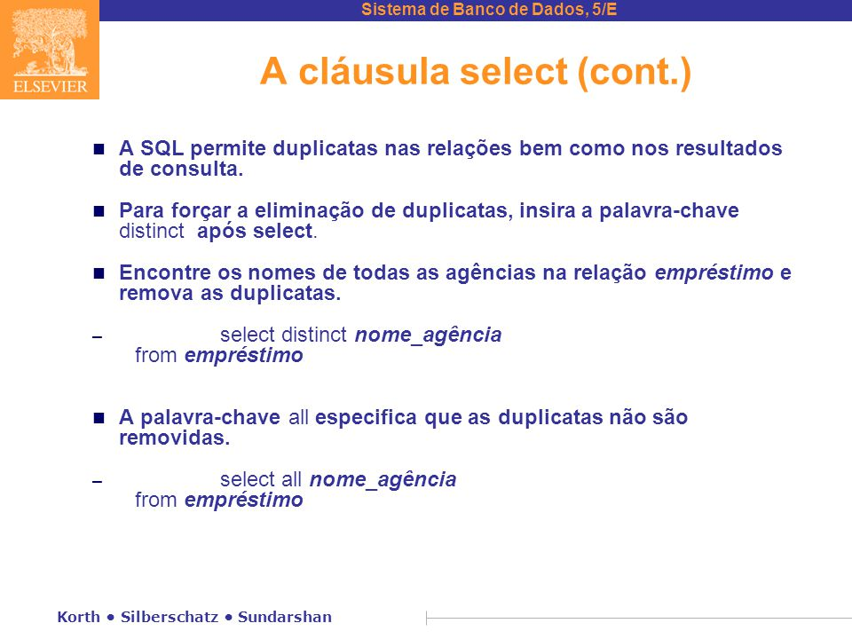 A cláusula select (cont.)