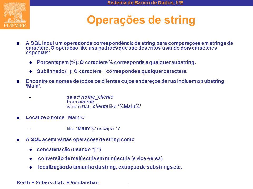 Operações de string