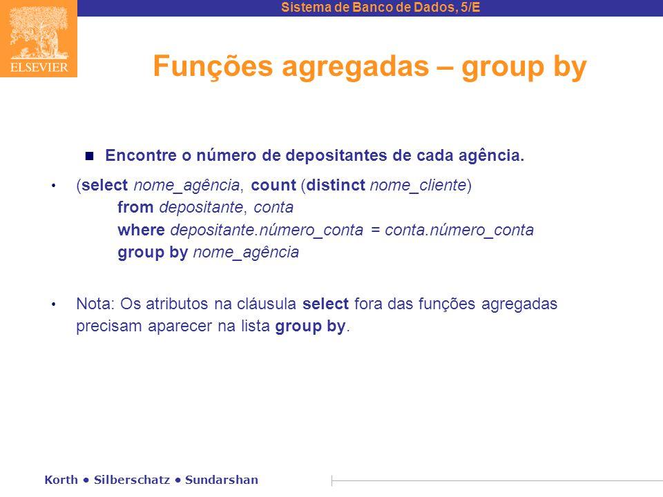 Funções agregadas – group by