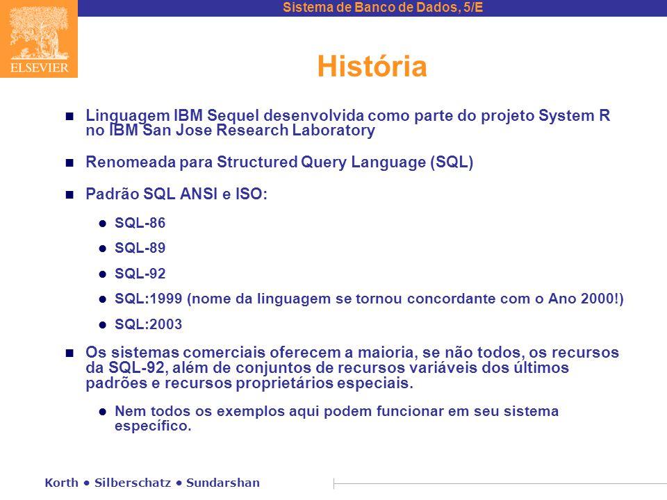 História Linguagem IBM Sequel desenvolvida como parte do projeto System R no IBM San Jose Research Laboratory.