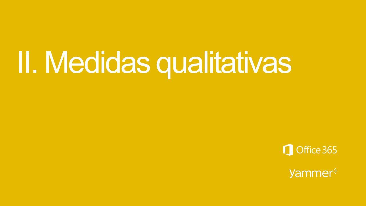 II. Medidas qualitativas