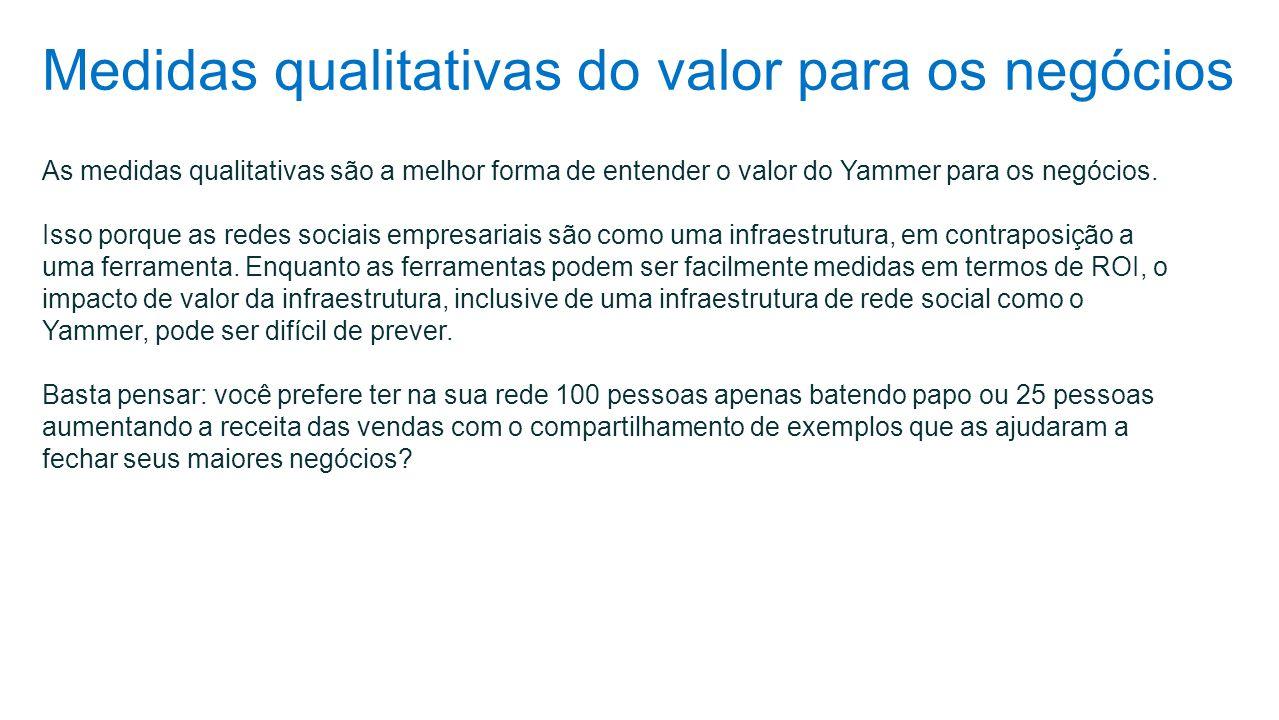 Medidas qualitativas do valor para os negócios