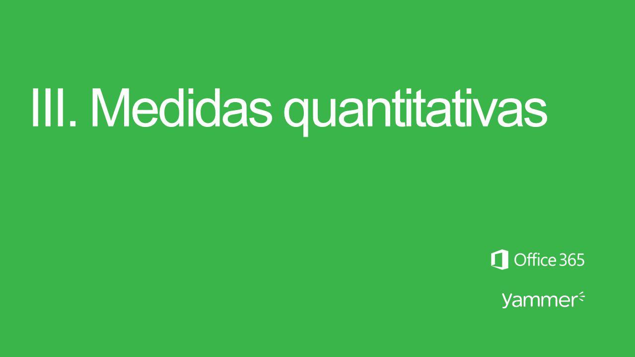 III. Medidas quantitativas