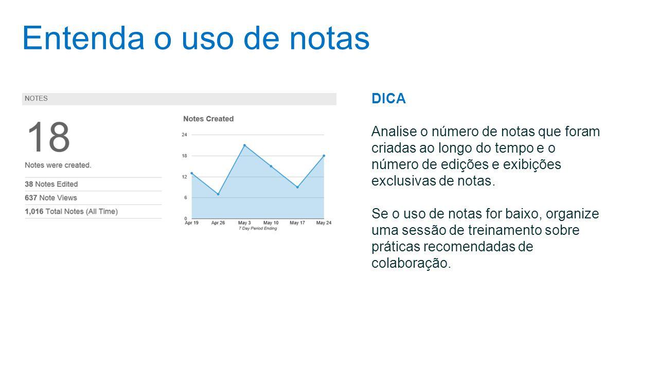 Entenda o uso de notas DICA