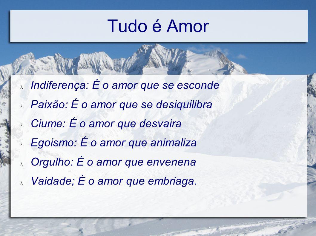 Tudo é Amor Indiferença: É o amor que se esconde