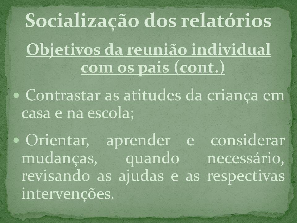 Socialização dos relatórios
