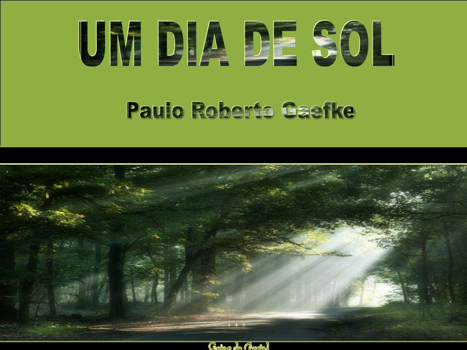 UM DIA DE SOL Paulo Roberto Gaefke