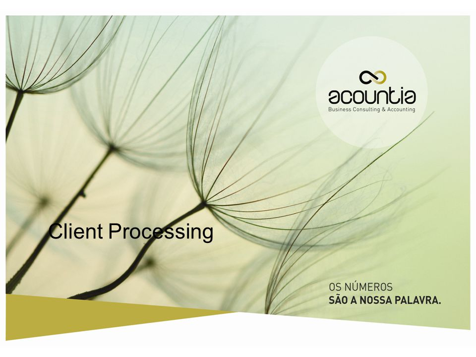 Client Processing 1.2/2012