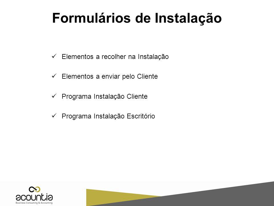 Formulários de Instalação