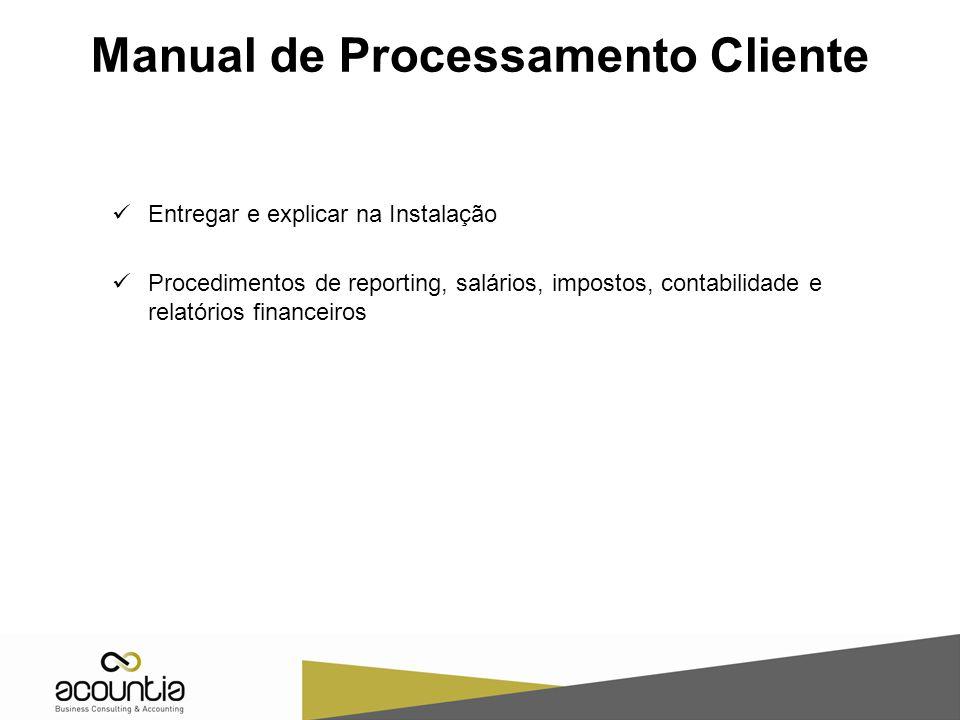 Manual de Processamento Cliente