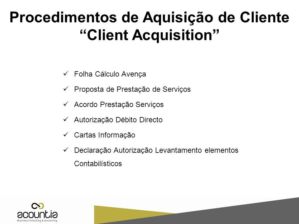 Procedimentos de Aquisição de Cliente Client Acquisition