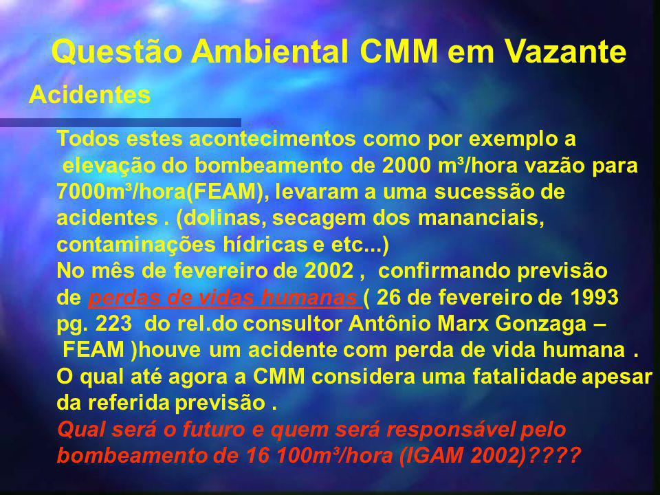 Questão Ambiental CMM em Vazante