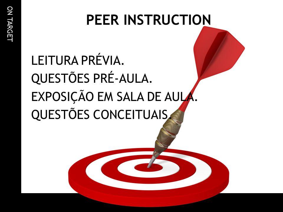PEER INSTRUCTION LEITURA PRÉVIA. QUESTÕES PRÉ-AULA.