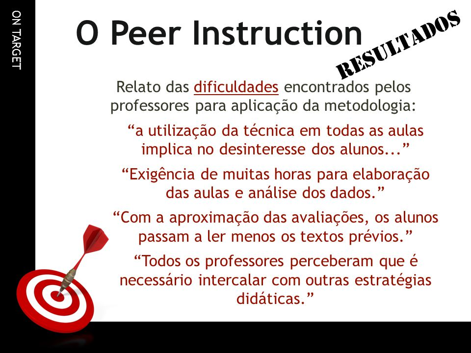 O Peer Instruction RESULTADOS