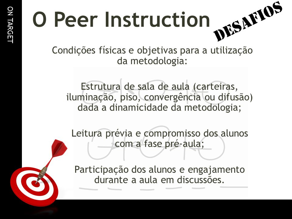 O Peer Instruction DESAFIOS