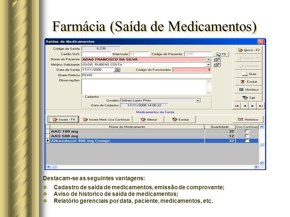 Farmácia (Saída de Medicamentos)
