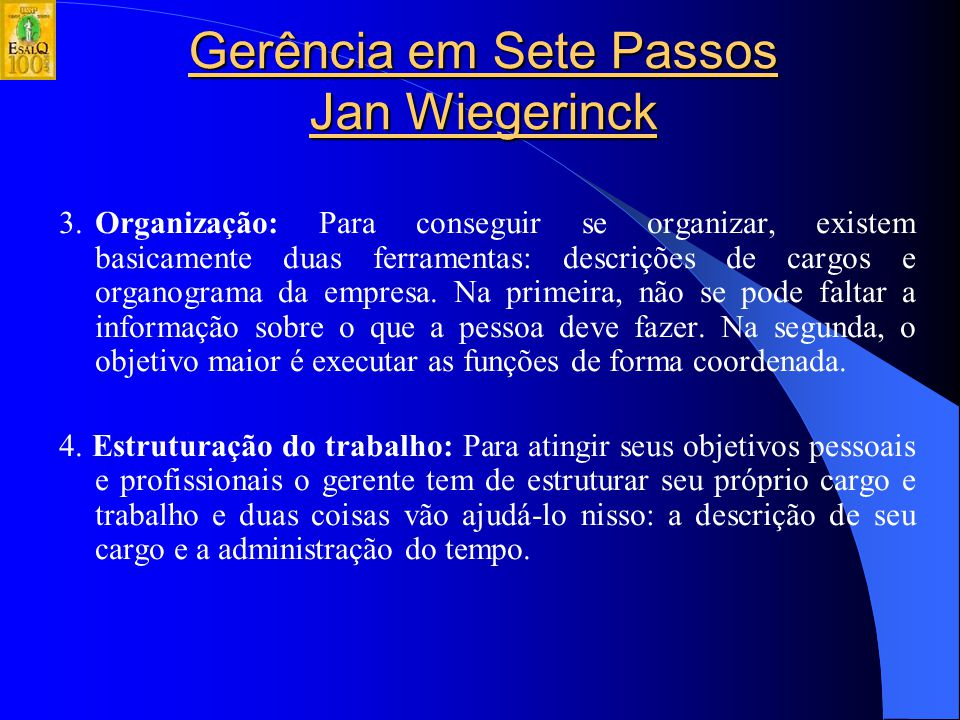 Gerência em Sete Passos Jan Wiegerinck