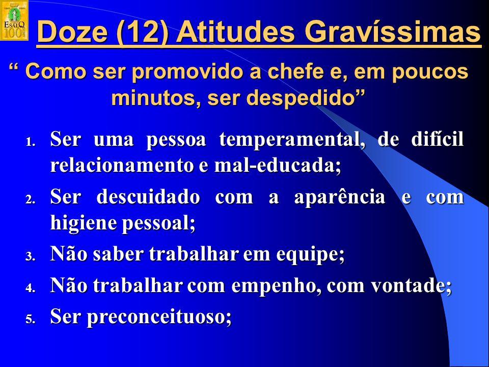 Doze (12) Atitudes Gravíssimas
