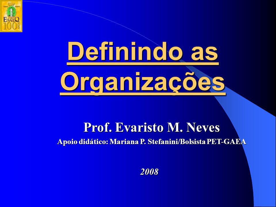Definindo as Organizações