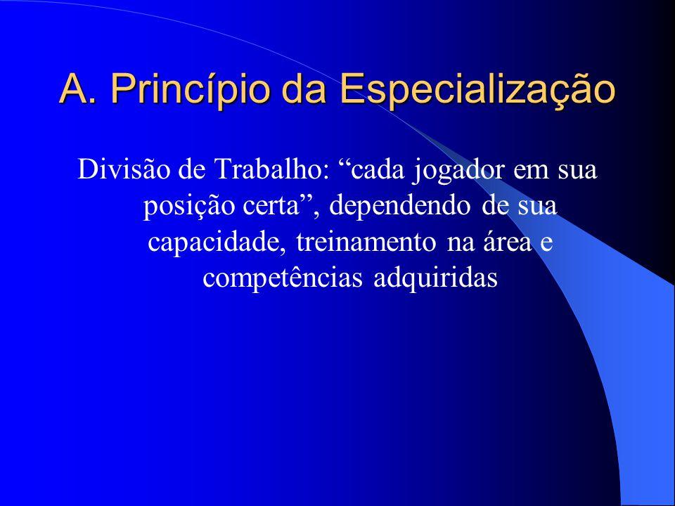 A. Princípio da Especialização