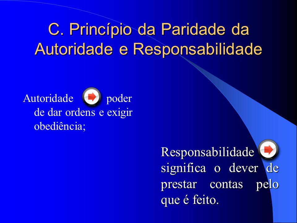 C. Princípio da Paridade da Autoridade e Responsabilidade
