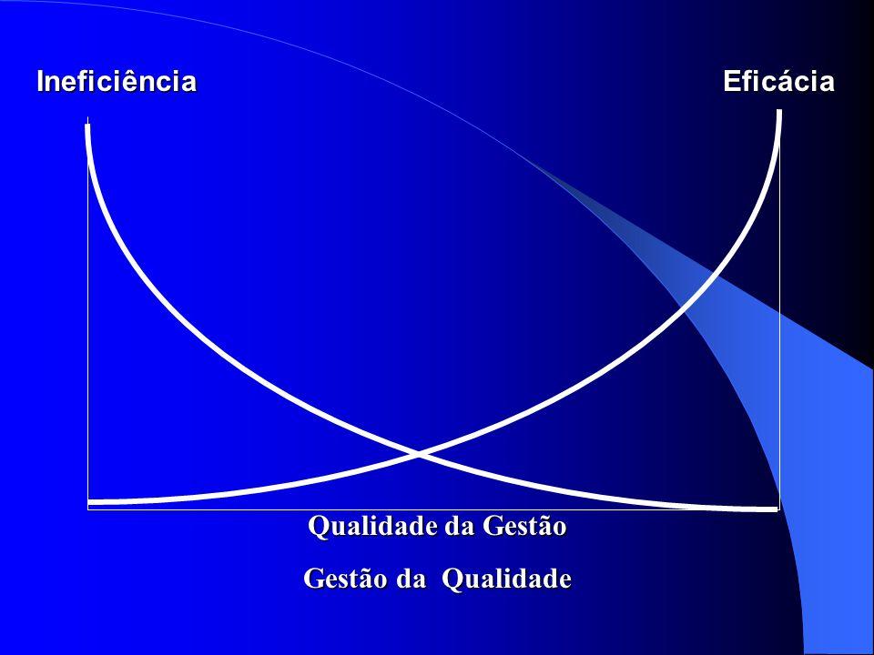 Ineficiência Eficácia Qualidade da Gestão Gestão da Qualidade