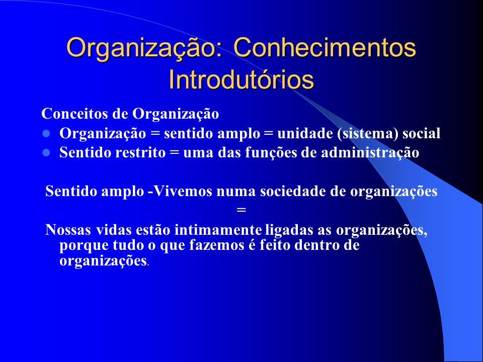Organização: Conhecimentos Introdutórios