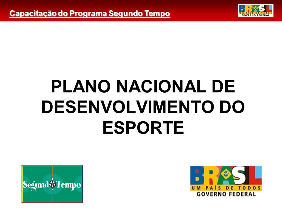PLANO NACIONAL DE DESENVOLVIMENTO DO ESPORTE
