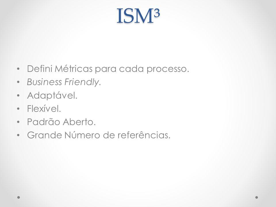 ISM³ Defini Métricas para cada processo. Business Friendly. Adaptável.