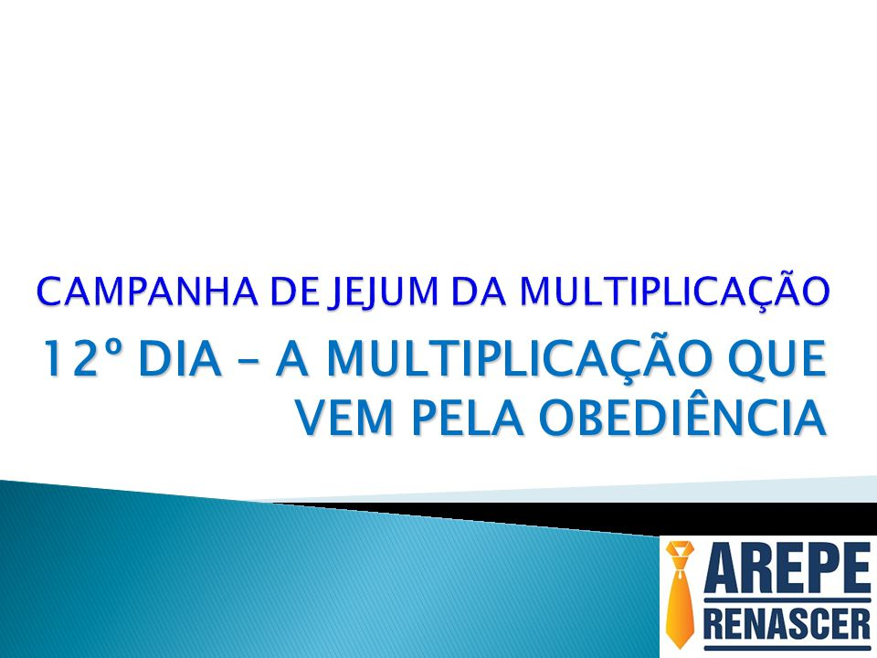 CAMPANHA DE JEJUM DA MULTIPLICAÇÃO