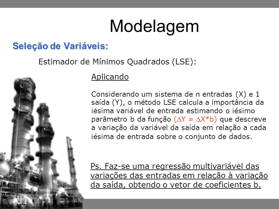 Modelagem Estimador de Mínimos Quadrados (LSE): Aplicando