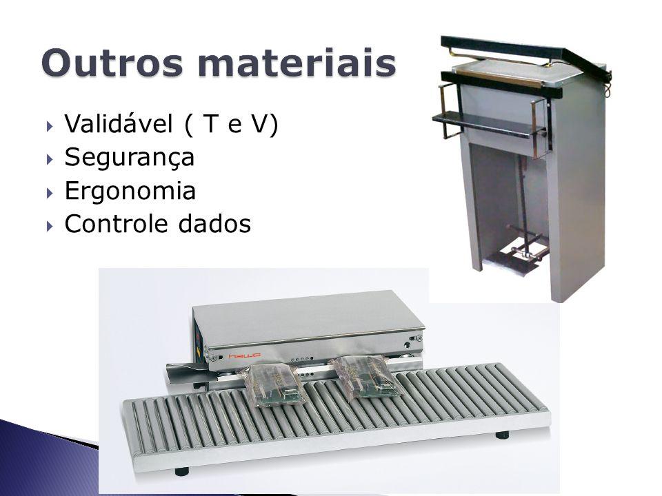 Outros materiais Validável ( T e V) Segurança Ergonomia Controle dados