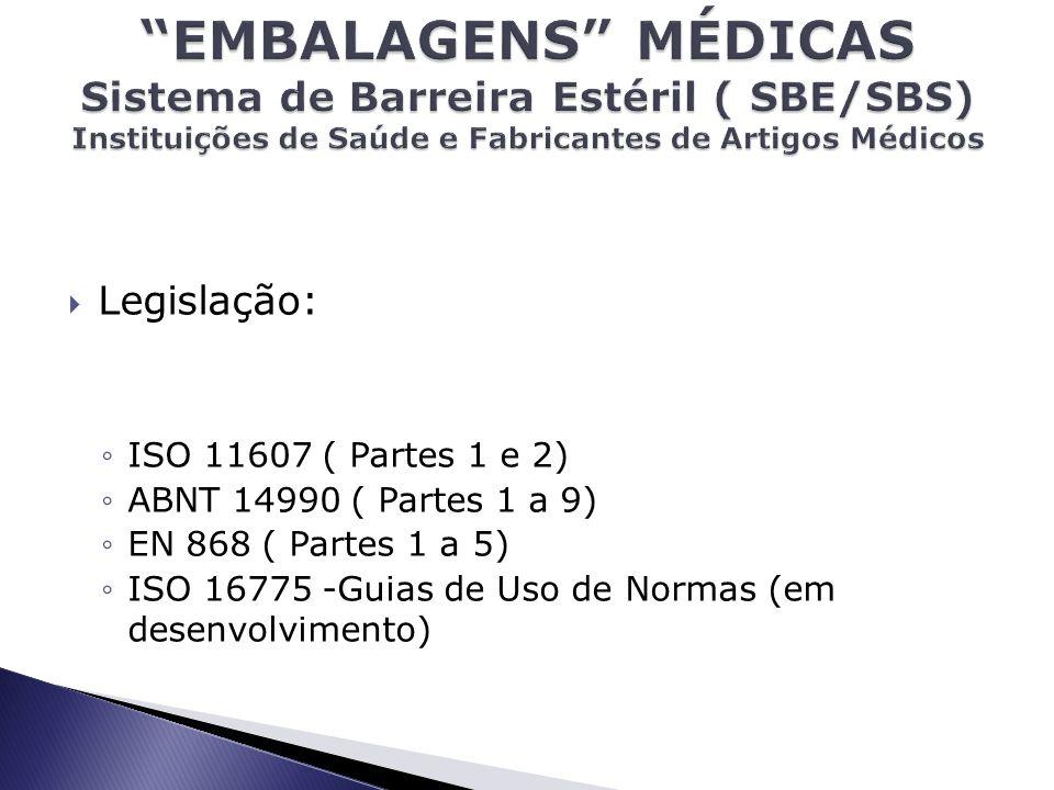 EMBALAGENS MÉDICAS Sistema de Barreira Estéril ( SBE/SBS) Instituições de Saúde e Fabricantes de Artigos Médicos
