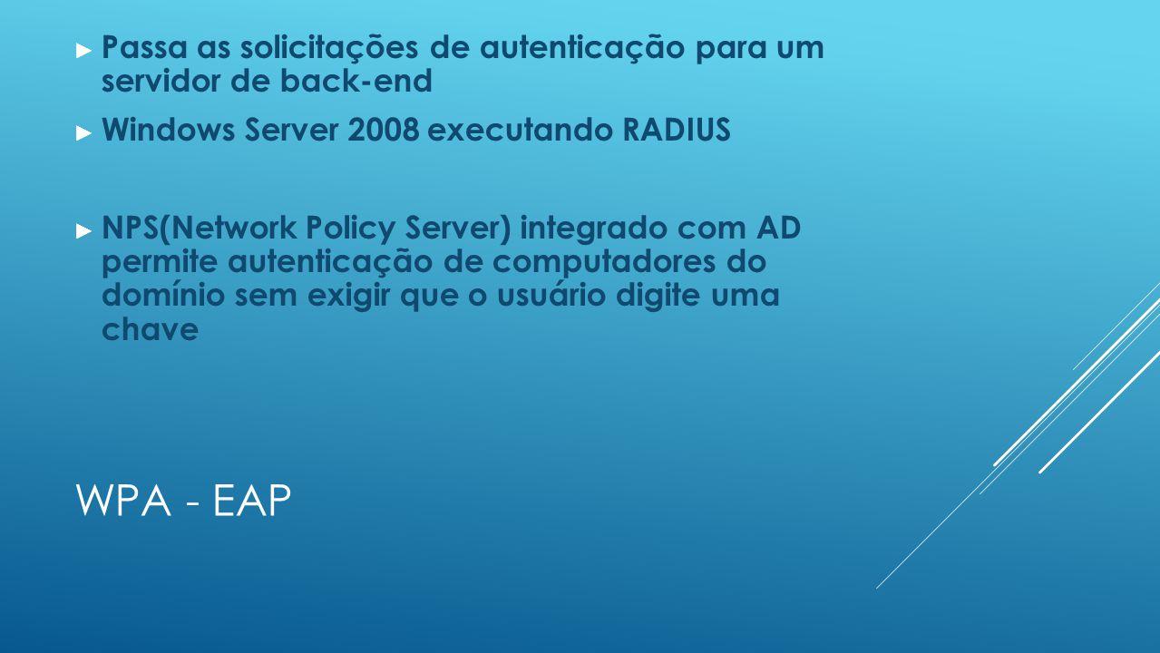 Passa as solicitações de autenticação para um servidor de back-end