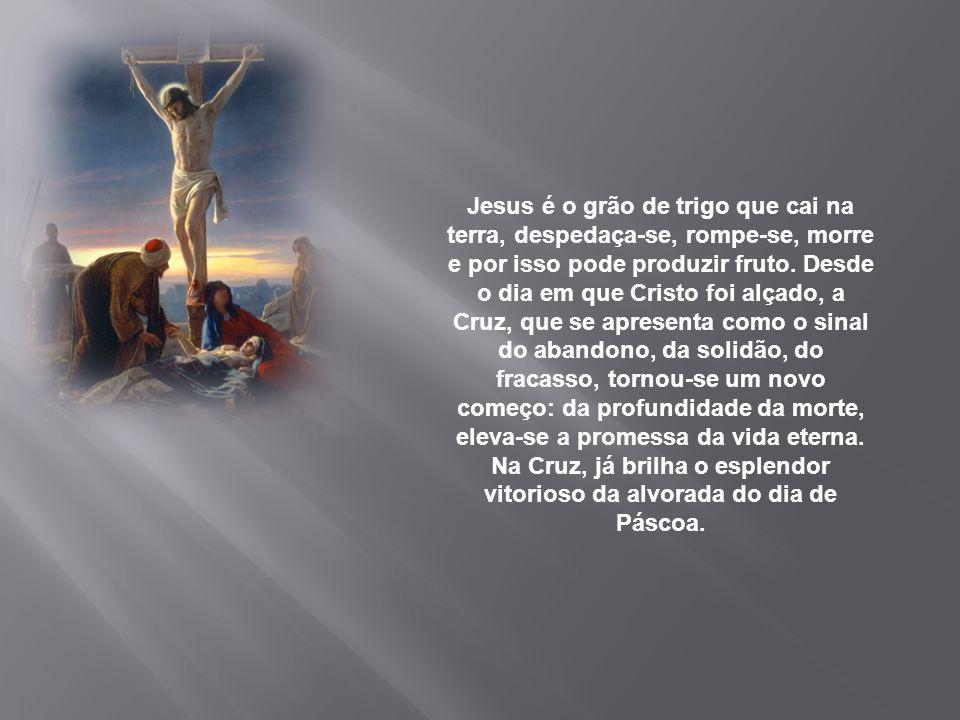Jesus é o grão de trigo que cai na terra, despedaça-se, rompe-se, morre e por isso pode produzir fruto.
