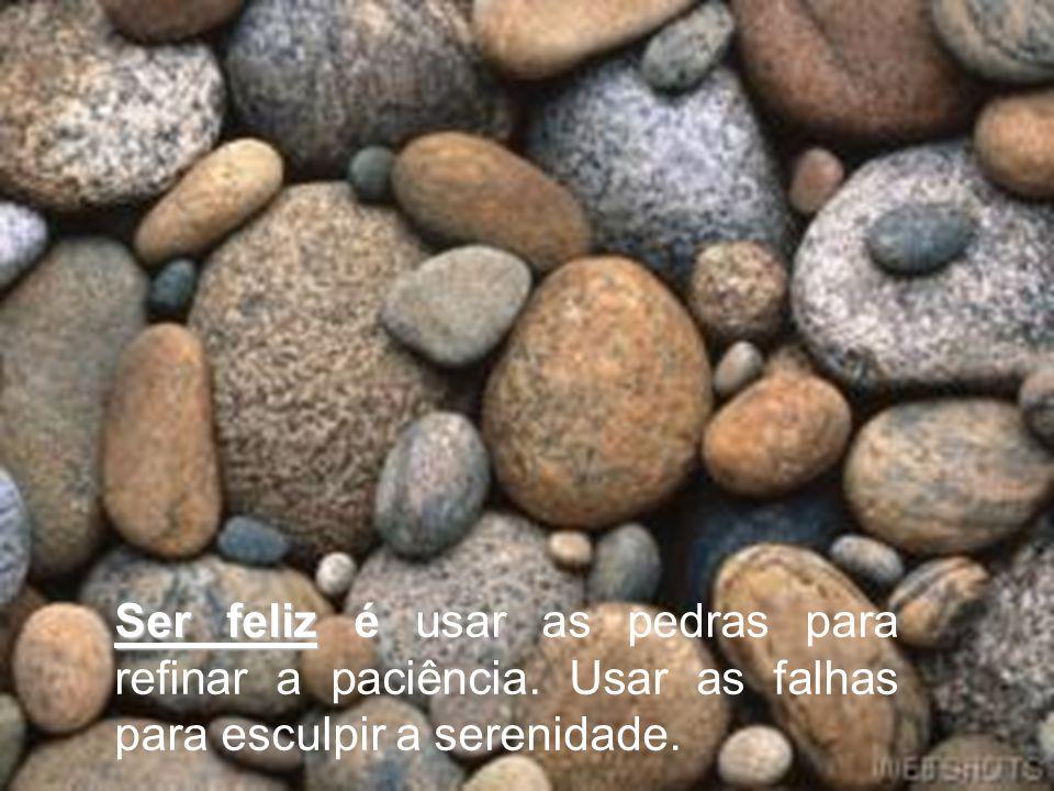 Ser feliz é usar as pedras para refinar a paciência