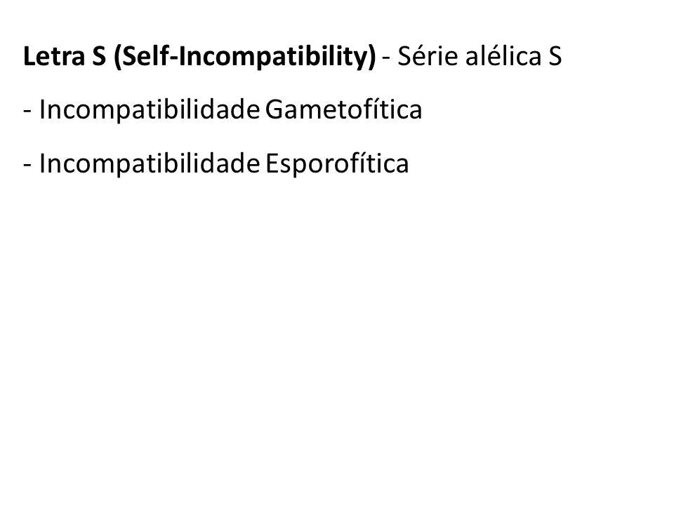 Letra S (Self-Incompatibility) - Série alélica S