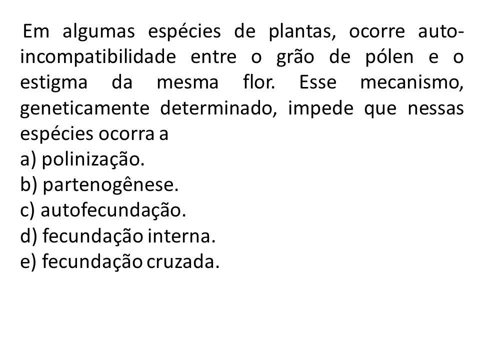 a) polinização. b) partenogênese. c) autofecundação.