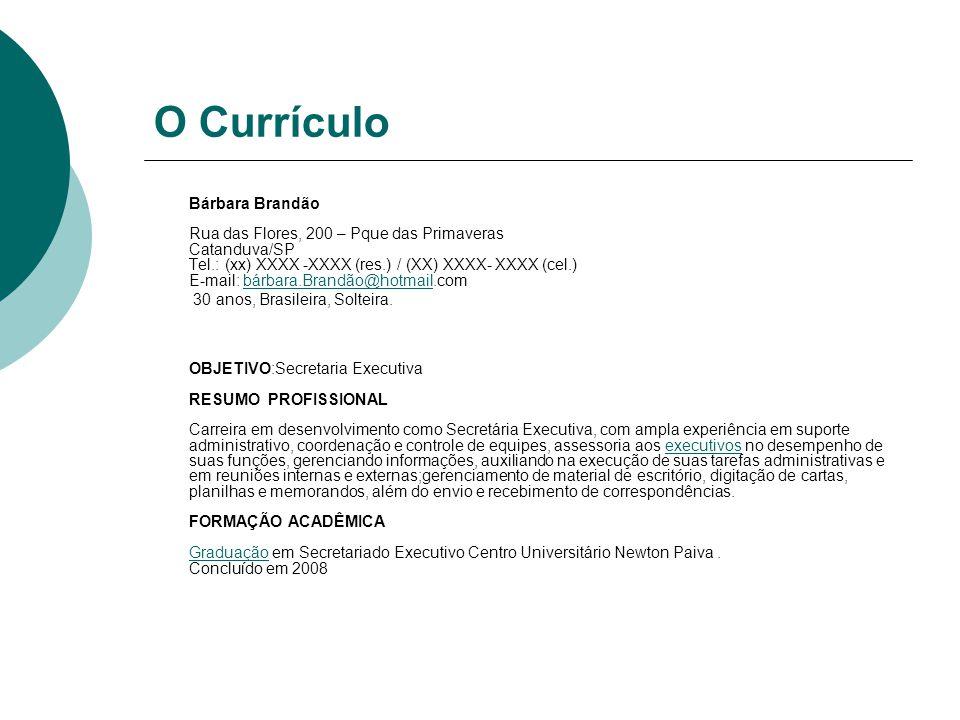 O Currículo