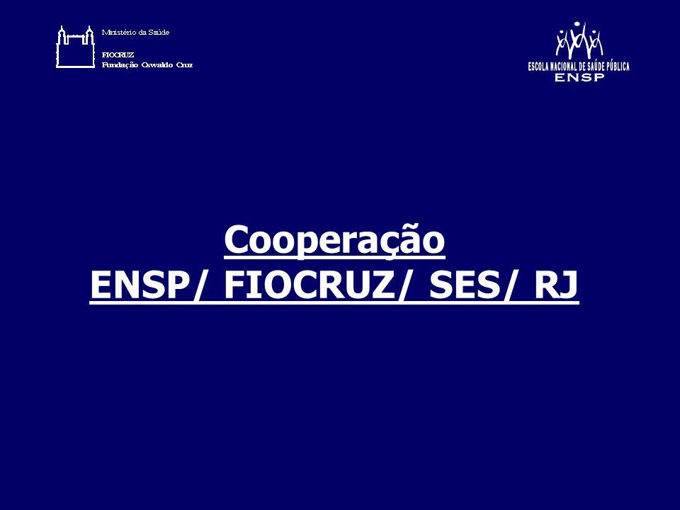 Cooperação ENSP/ FIOCRUZ/ SES/ RJ