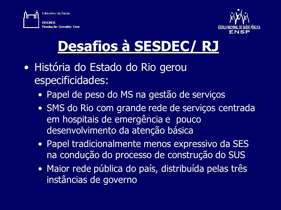 Desafios à SESDEC/ RJ História do Estado do Rio gerou especificidades: