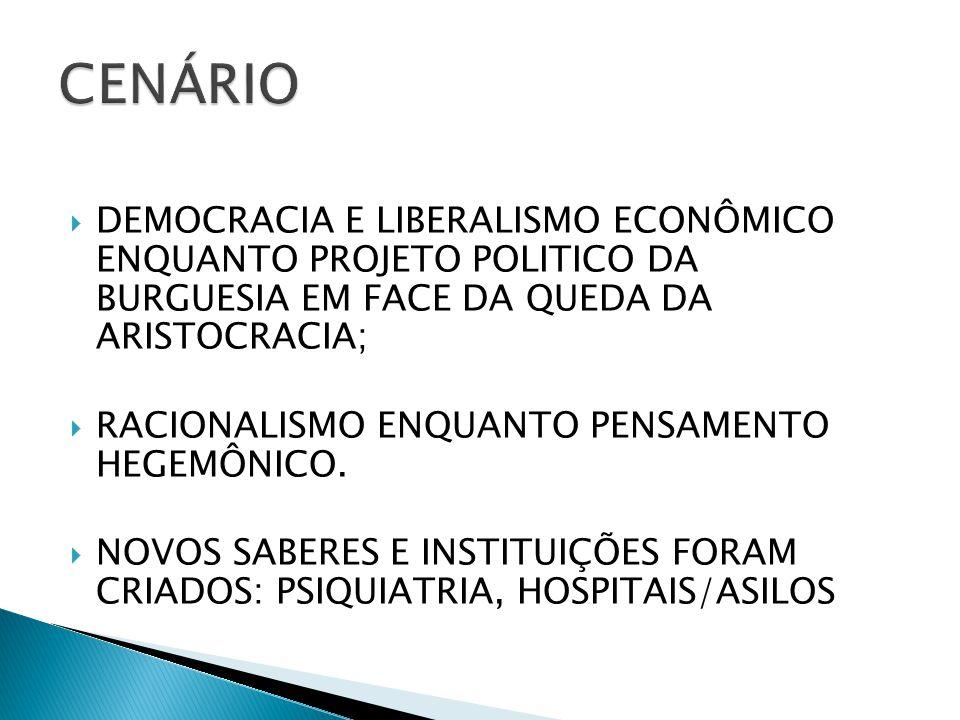 CENÁRIO DEMOCRACIA E LIBERALISMO ECONÔMICO ENQUANTO PROJETO POLITICO DA BURGUESIA EM FACE DA QUEDA DA ARISTOCRACIA;